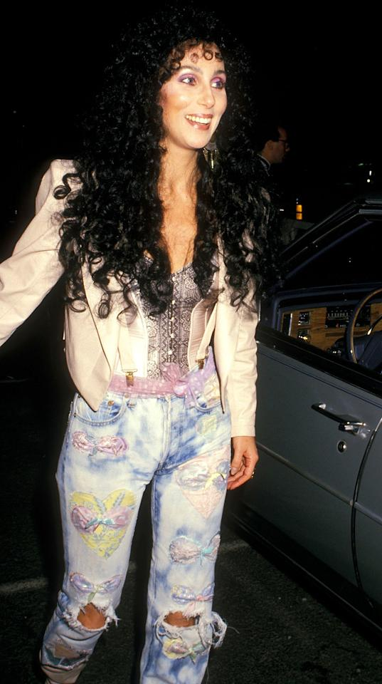 There's something quintessentially '80s about Cher's look.