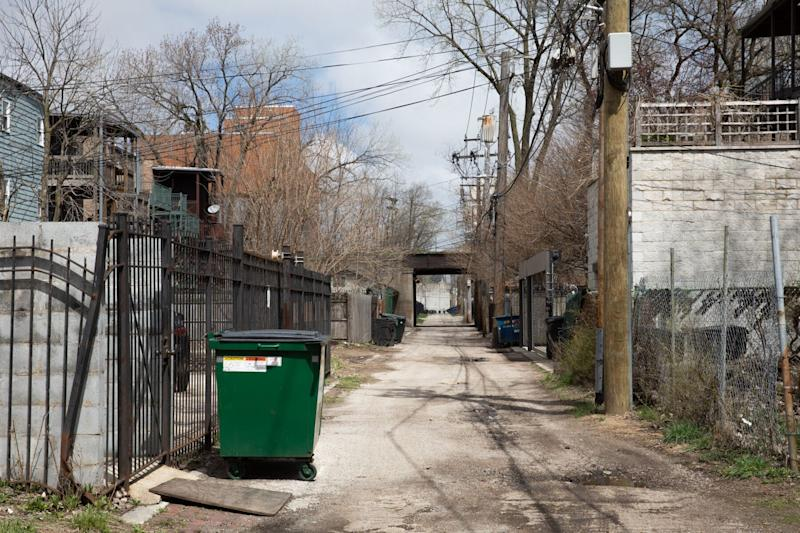The body of Dejanay Stanton, a 24-year-old transgender woman, was found in thisalley in the Bronzeville neighborhood of Chicago in 2018.