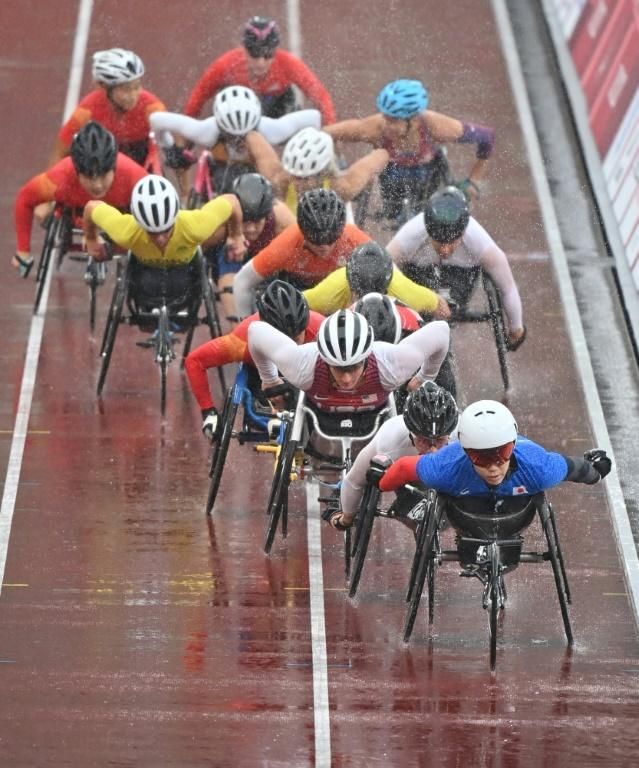 A total of 14 gold medals were set to be decided on the final day of the Tokyo Paralympics on Sunday (AFP/Kazuhiro NOGI)
