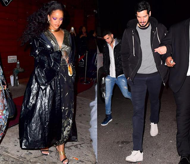 Rihanna and Hassan Jameel try to time separate exits after partying together in N.Y.C. (Photo: Splash News)