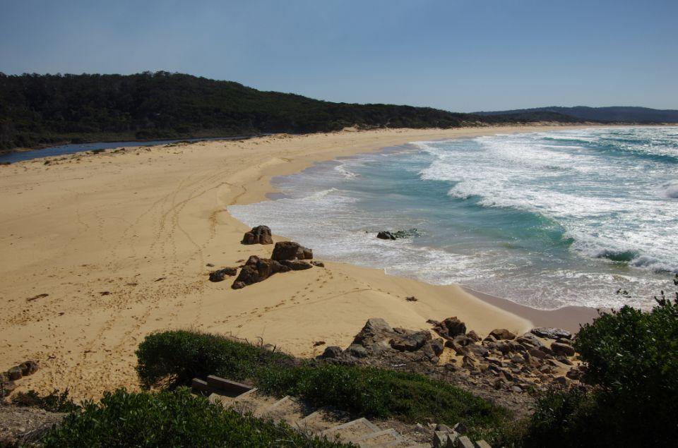 The remains of Melissa Caddick were found at Bournda Beach. Source: Getty