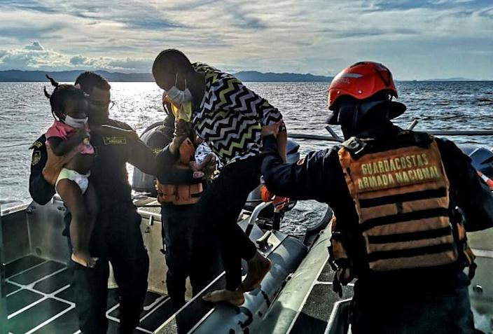 haitian migrants rescued at sea colombia