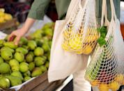 <p>If you're going to the grocery store, don't forget these <span>White Wrap Cotton Mesh String Reusable Bag</span> ($16)!</p>