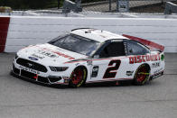 Brad Keselowski (2) competes in the NASCAR Cup Series auto race Sunday, May 17, 2020, in Darlington, S.C. (AP Photo/Brynn Anderson)