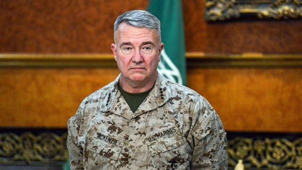 PHOTO: Marine Corps General Kenneth F. McKenzie Jr., Commander of the US Central Command (CENTCOM), poses for a picture during his visit to a military base in al-Kharj in central Saudi Arabia, July 18, 2019.  (Fayez Nureldine/AFP via Getty Images, FILE)