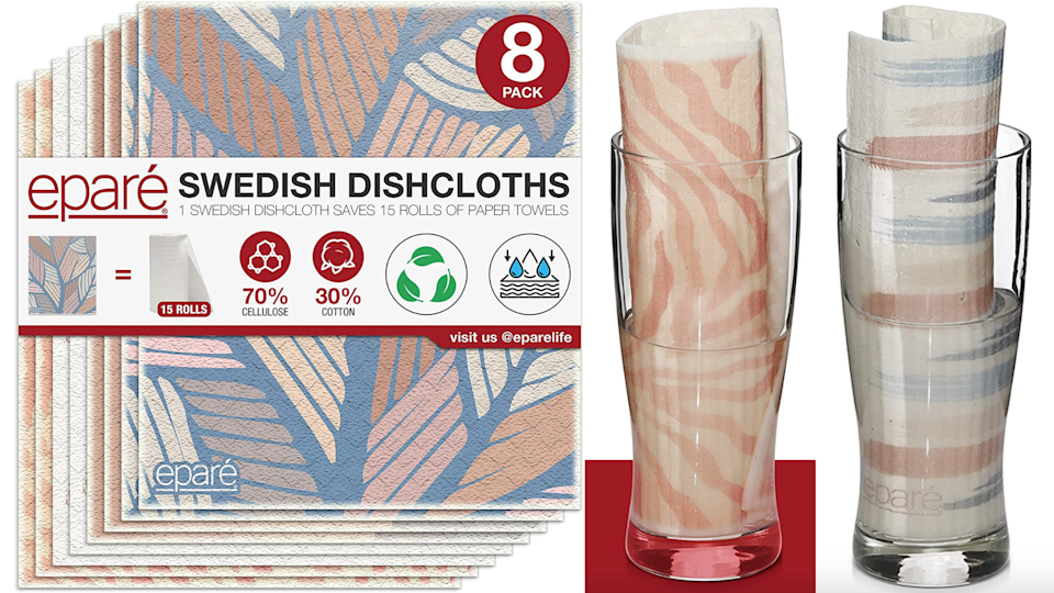 Can you believe one dishcloth makes up for 15 rolls of paper towels? How impressive.