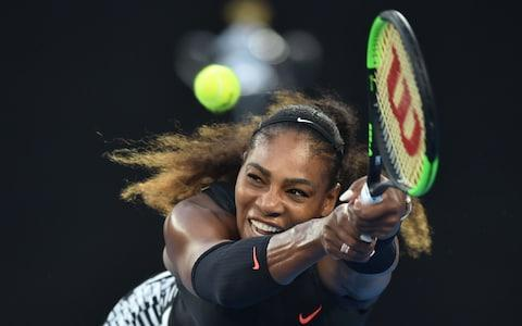 Serena Williams in action against Venus Williams, during the women's singles final on day 13 of the 2018 Australian Open tennis tournament in Melbourne - Credit: Peter Parks/AFP/Getty Images