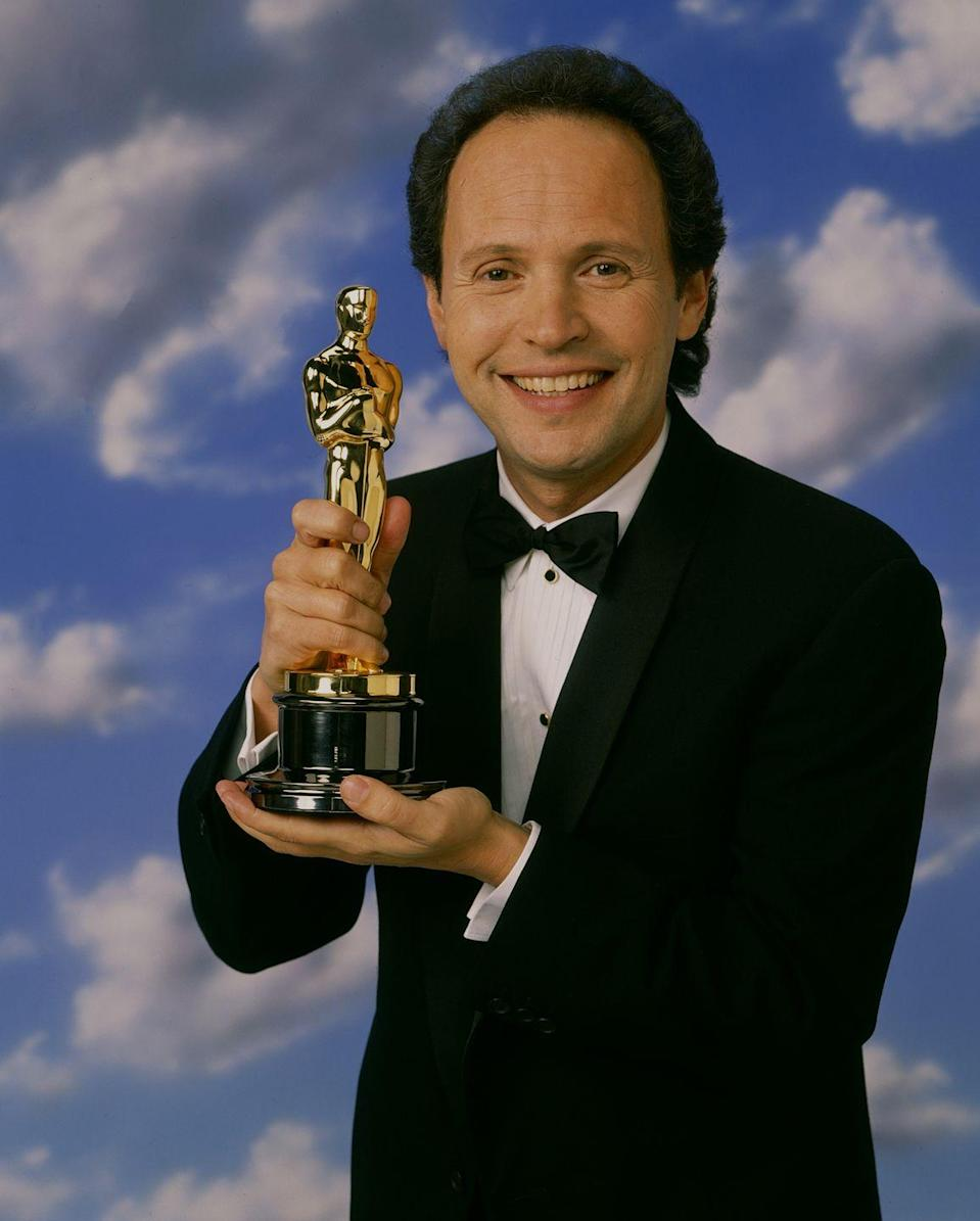 <p>Billy Crystal's big '90s roles included <em>City Slickers, Deconstructing Harry</em>, and <em>Analyze This</em>. He also hosted the Academy Awards several times throughout the decade.</p>