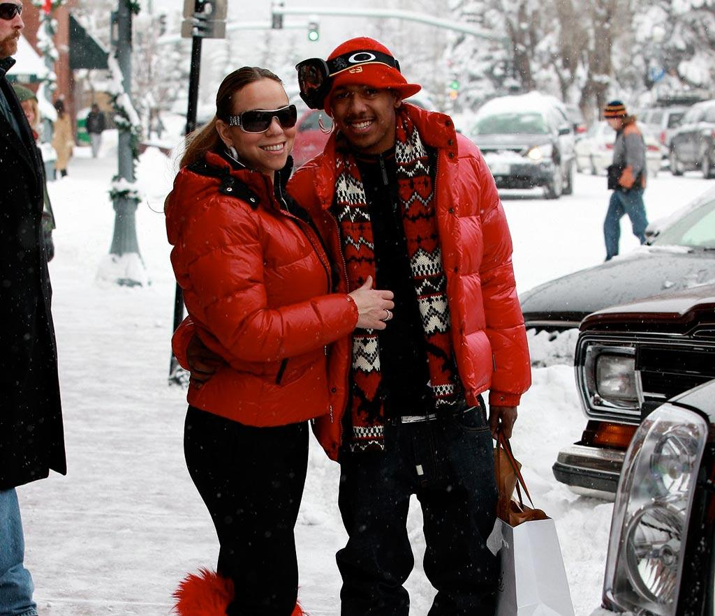 "A trip to Aspen wouldn't be complete for Mariah Carey and her hubby, Nick Cannon, without a little shopping spree! Alpha X/<a href=""http://www.x17online.com"" target=""new"">X17 Online</a> - December 23, 2008"