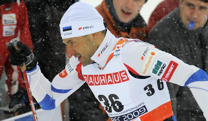 """FILE - This is a  Friday, Feb. 20, 2009 file photo of Estonia's gold medal winner Andrus Veerpalu skis during the Men's 15k Interval Start race at the Cross Country competitions of the Nordic World Ski Championships in Liberec, Czech Republic. Sport's highest court Tuesday March 26, 2013 has lifted a three-year ban imposed on two-time Olympic cross-country skiing champion Andrus Veerpalu of Estonia for doping with human growth hormone. The Court of Arbitration for Sport upheld Veerpalu's appeal against the International Ski Fedration for """"procedural flaws"""" even though it suspected him of doping.   (AP Photo/Jens Meyer, File)"""