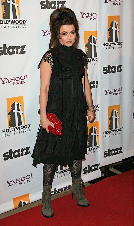 "<a href=""http://movies.yahoo.com/movie/contributor/1800018966"">Helena Bonham Carter</a> attends the 14th Annual Hollywood Awards Gala at the Beverly Hilton Hotel on October 25, 2010."