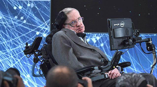 Cosmologist Stephen Hawking attends a New Space Exploration Initiative at One World Observatory on April 12, 2016 in New York City. Source: Getty