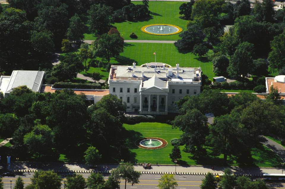 The White House in Washington DC is pictured.