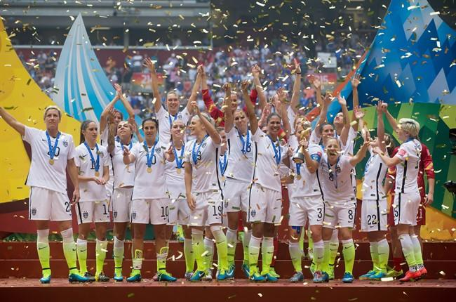 The U.S. team celebrates winning the 2015 Women's World Cup, an event that was a winner across the board. THE CANADIAN PRESS/Darryl Dyck