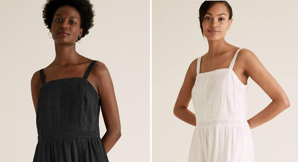 This new easy breezy M&S midi dress is selling out fast.  (Marks and Spencer)