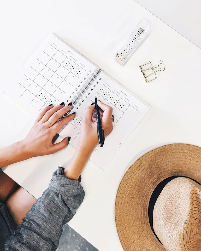 "<p>While it might be tempting to roll out of bed, attend your first class in your pajamas, then take a three-hour lunch break, it will <a href=""https://www.popsugar.com/money/How-Do-You-Stay-Focused-While-Working-From-Home-44315880"" class=""ga-track"" data-ga-category=""Related"" data-ga-label=""https://www.popsugar.com/money/How-Do-You-Stay-Focused-While-Working-From-Home-44315880"" data-ga-action=""In-Line Links"">actually help you to have a schedule</a>. If you have lectures or quizzes that you need to attend at a certain time, add those to your calendar first. Then, figure out how much studying/writing/research time you need and set aside time to do that throughout the day. Give yourself plenty of breaks to stretch, go for a walk, and, yes, watch a little TV, and then get back to it. Try to have set start and stop times in your day as well, so you can give yourself a break and time to recharge at the end of the night, knowing you will be back at it in the morning.</p>"