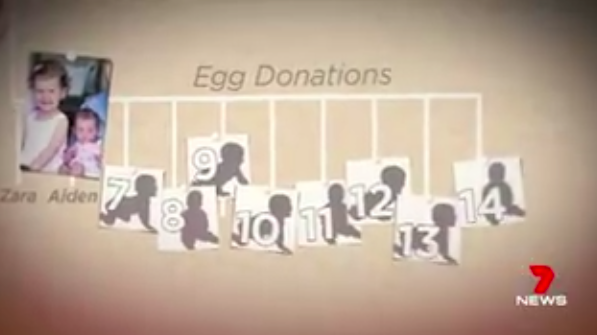 The mother-of-three has donated her eggs to several people. Source: 7 News