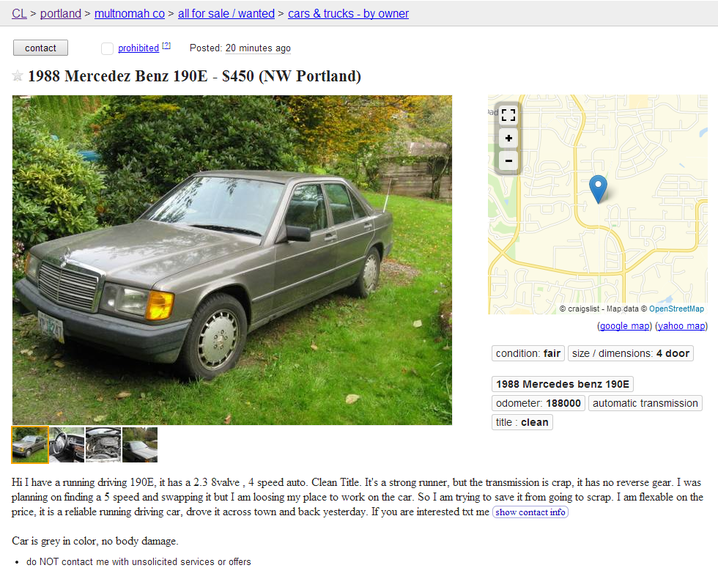 Places To Buy Used Cars Other Than Craigslist