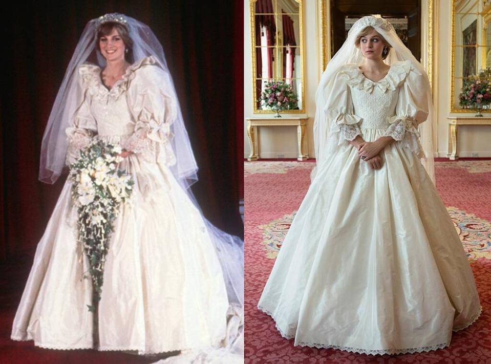 The Crown, Princess Diana, Emma Corrin, Wedding Dress