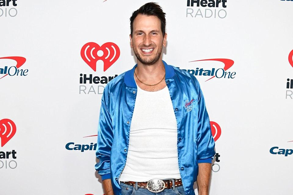 Russell Dickerson attends the 2021 iHeartRadio Music Festival on September 17, 2021 at T-Mobile Arena in Las Vegas, Nevada.