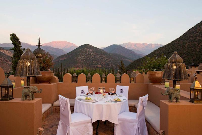 Dinner on the roof at Kasbah Tamadot (Virgin Limited Edition)