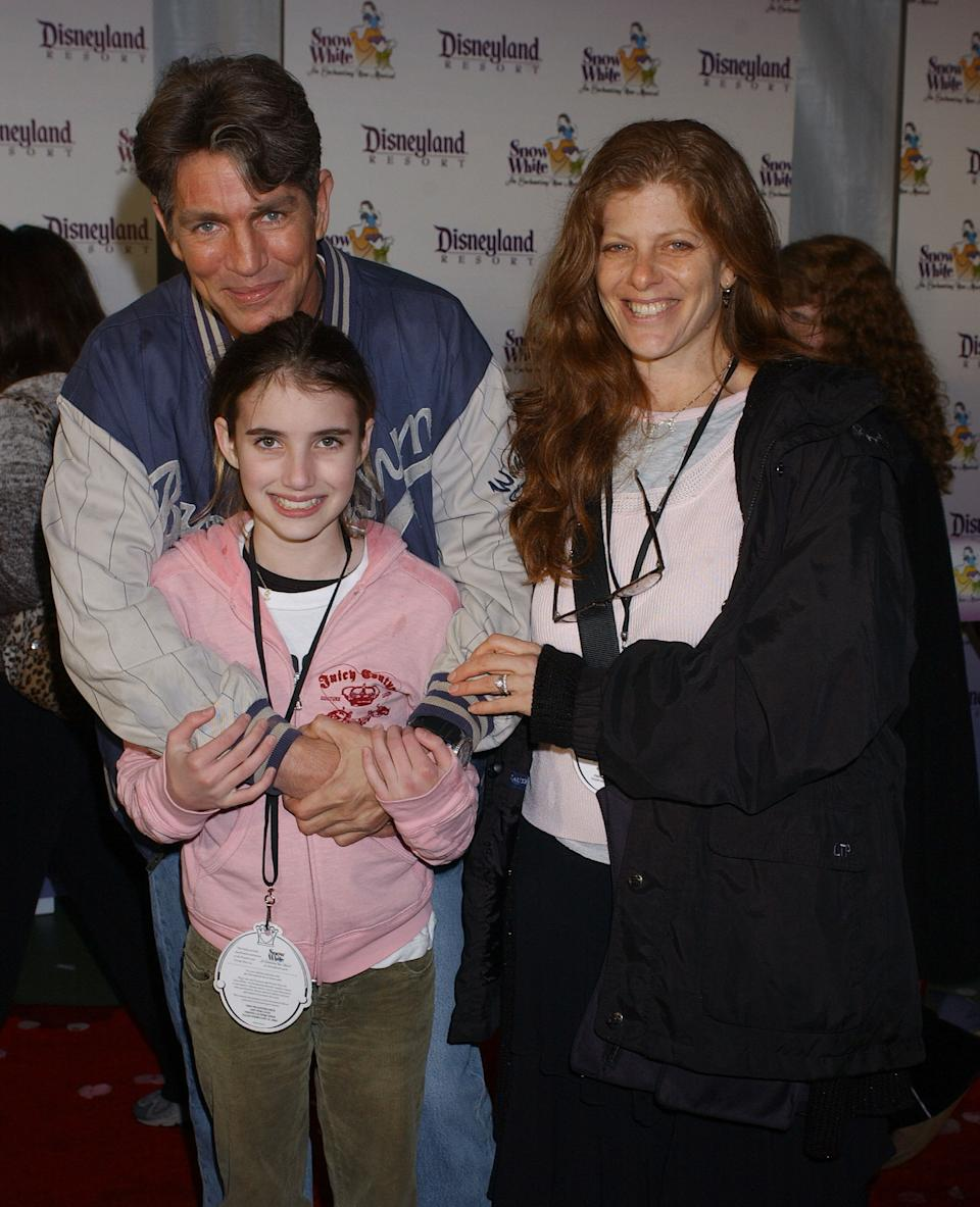 Eric Roberts, daughter Emma and wife Eliza during