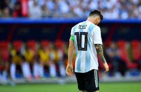 FILE PHOTO: Soccer Football - World Cup - Round of 16 - France vs Argentina - Kazan Arena, Kazan, Russia - June 30, 2018 Argentina's Lionel Messi looks dejected REUTERS/Dylan Martinez/File Photo