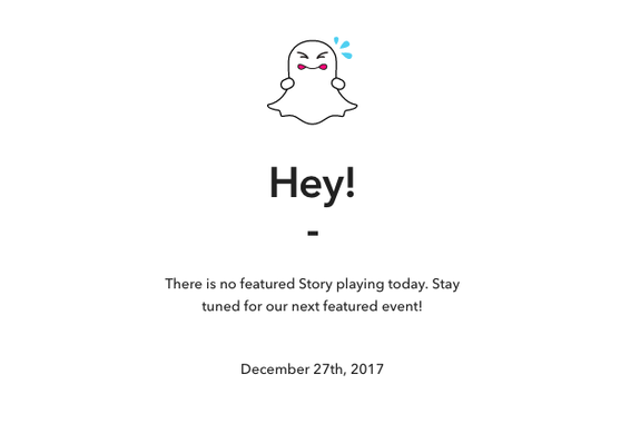 Snapchat allows you to create your own (editable) review of 2017