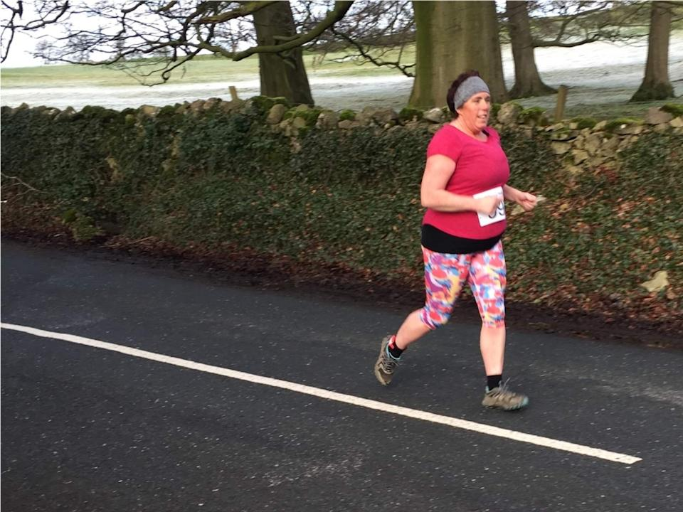 Helen Foster was initially embarrassed to be seen running, but she has since overcome her fears and completed marathons. (Helen Foster)