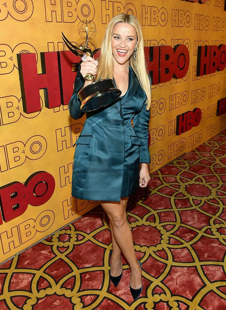 <p>Reese Witherspoon was a winner, y'all. The actress and producer, who already has an Oscar and Golden Globe, added an Emmy to her collection for executive-producing <em>Big Little Lies</em>, which won Outstanding Limited Series. Reese, pictured at the HBO party, was also nominated for her acting on the show, but her co-star Nicole Kidman scored the win, keeping it all in the family. (Photo: Matt Winkelmeyer/Getty Images) </p>