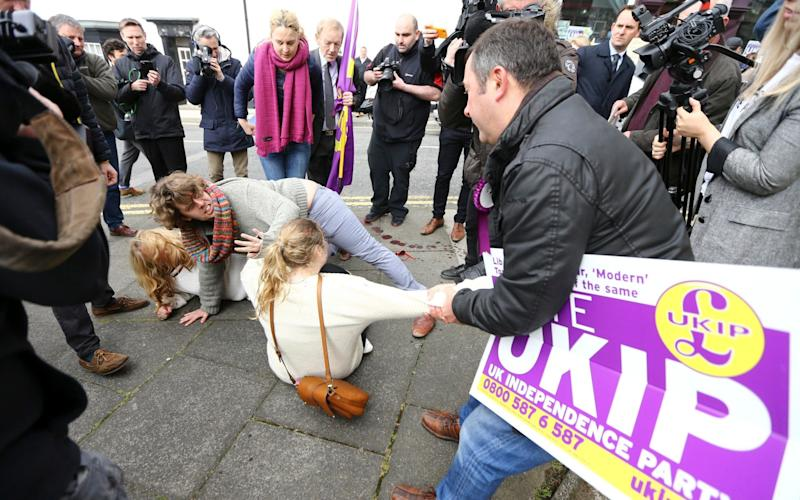 Ukip punch up - Credit: Andrew McCaren/London News Pictures Ltd