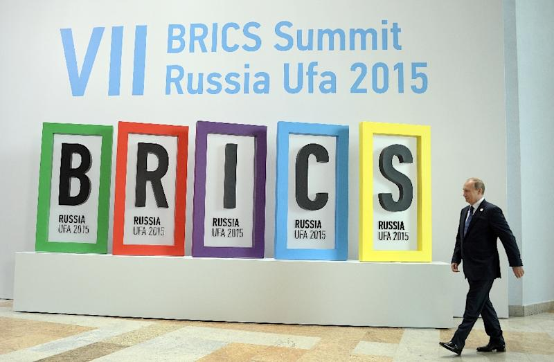 The bank's opening comes two weeks after a BRICS summit hosted by Russian President Vladimir Putin (AFP Photo/Alexander Nemenov)
