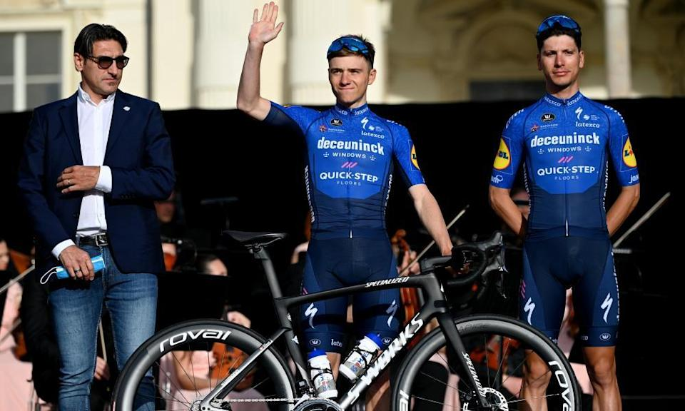 Remco Evenepoel and his Team Deceuninck - Quick-Step teammate João Almeida (right) could emerge as challengers