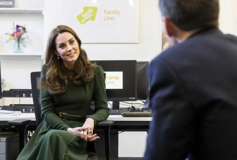 Kate Middleton at Family Action | Courtesy Family Action