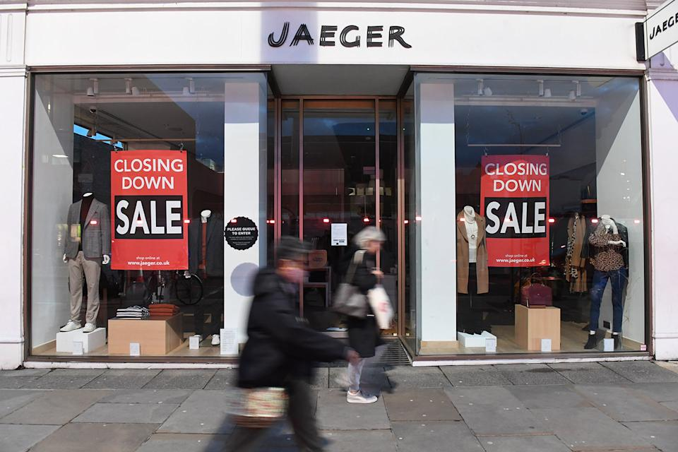 <p>Jaeger UK stores will be permanently closed</p> (PA)