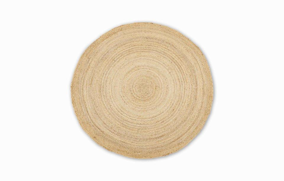 """<p>This circular design marries the practicality of hard-wearing jute with an artfully rustic aesthetic. The beauty of its natural look is that it suits any style of space, from sleek city pads to country cottages (and everything in-between). £79, <a href=""""https://www.made.com/"""" rel=""""nofollow noopener"""" target=""""_blank"""" data-ylk=""""slk:made.com"""" class=""""link rapid-noclick-resp"""">made.com</a></p>"""