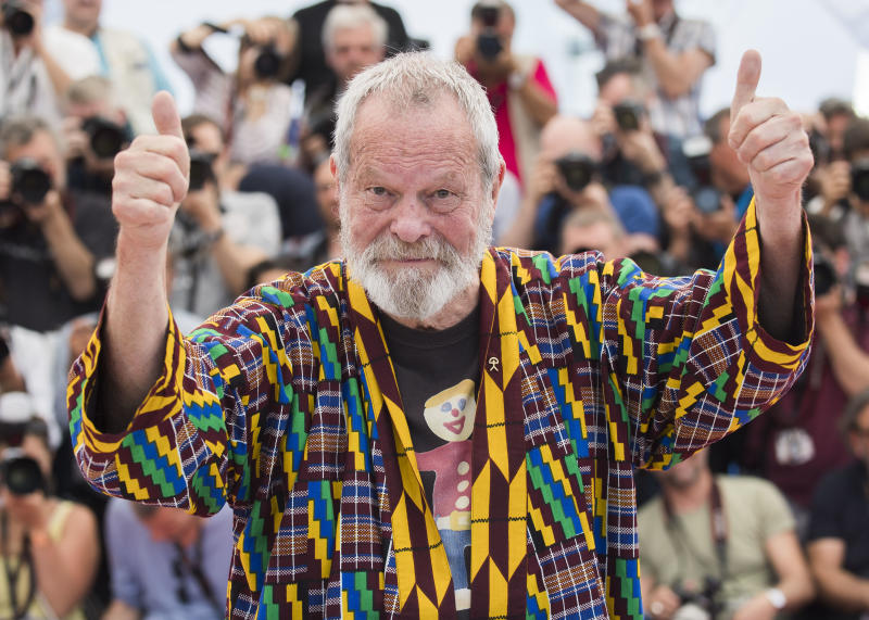 Director Terry Gilliam poses for photographers during a photo call for the film 'The Man Who Killed Don Quixote' at the 71st international film festival, Cannes, southern France, Saturday, May 19, 2018. (Photo by Arthur Mola/Invision/AP)