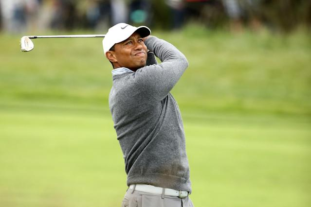 "<h1 class=""title"">U.S. Open - Round Three</h1> <div class=""caption""> PEBBLE BEACH, CALIFORNIA - JUNE 15: Tiger Woods of the United States plays a second shot on the third hole during the third round of the 2019 U.S. Open at Pebble Beach Golf Links on June 15, 2019 in Pebble Beach, California. (Photo by Ezra Shaw/Getty Images) </div> <cite class=""credit"">Ezra Shaw</cite>"