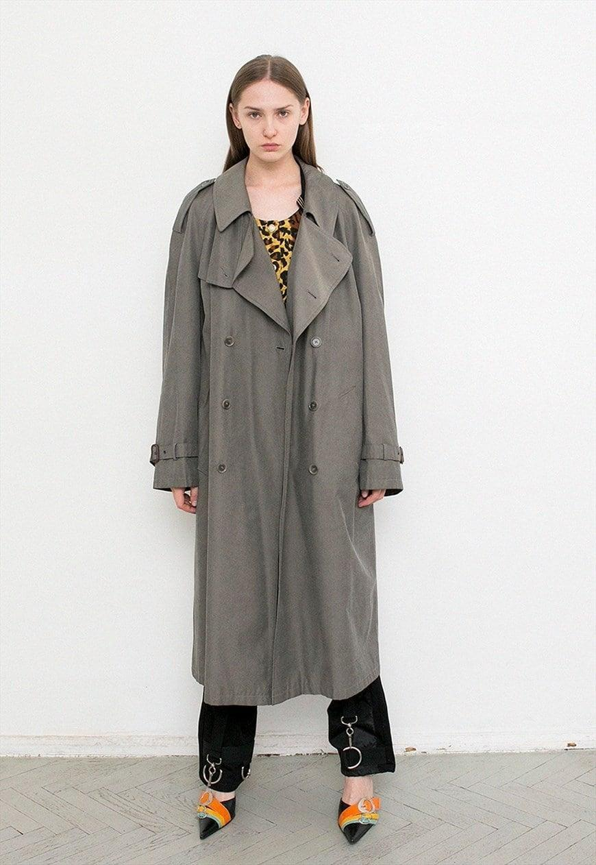 """<br><br><strong>Snake Cake Vintage</strong> Vintage Trench Coat, $, available at <a href=""""https://marketplace.asos.com/listing/coats/vintage-trench-coat-grey-classic-double-breasted-cozy-button/5899176?"""" rel=""""nofollow noopener"""" target=""""_blank"""" data-ylk=""""slk:asos marketplace"""" class=""""link rapid-noclick-resp"""">asos marketplace</a>"""