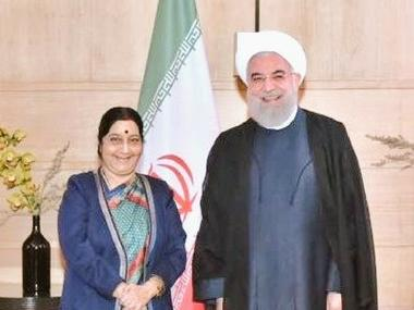 EAM @SushmaSwaraj called on President of Iran Dr. Hassan Rouhani. Strengthening cooperation in energy, connectivity, IT, education, culture and people-to-people contact came up for discussion. Twitter@MEAIndia