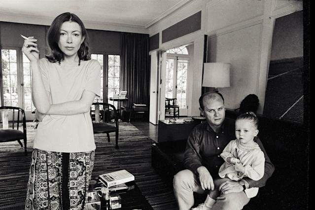 Writer Joan Didion, left, with her husband, John Gregory Dunne, and daughter, Quintana. Her life and work are the subject of Griffin Dunne's new documentary  <em>Joan Didion: The Center Will Not Hold. </em>(Photo: Netflix)