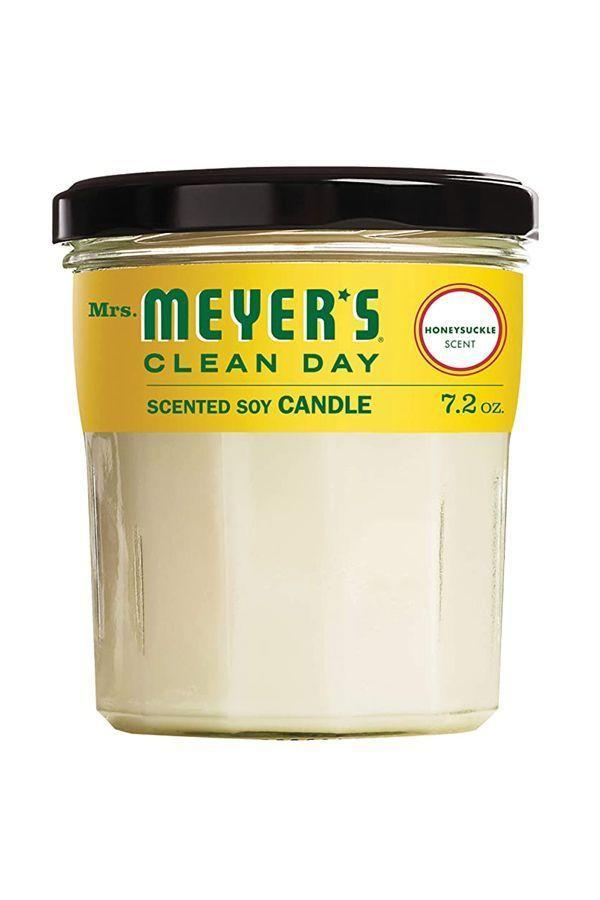 "<p><strong>Mrs. Meyer's Clean Day</strong></p><p>amazon.com</p><p><strong>$6.98</strong></p><p><a href=""https://www.amazon.com/dp/B073LFMKLS?tag=syn-yahoo-20&ascsubtag=%5Bartid%7C10072.g.36055948%5Bsrc%7Cyahoo-us"" rel=""nofollow noopener"" target=""_blank"" data-ylk=""slk:SHOP NOW"" class=""link rapid-noclick-resp"">SHOP NOW</a></p><p>Load up on these popular (and inexpensive!) candles, which will perfume any room with the syrupy sweet scent of honeysuckle.</p>"