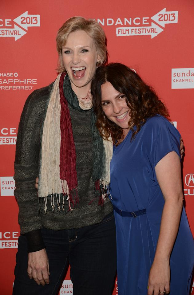 PARK CITY, UT - JANUARY 21:  (L-R) Actress Jane Lynch and director Jill Soloway attend the 'Afternoon Delight' premiere at Eccles Center Theatre during the 2013 Sundance Film Festival on January 21, 2013 in Park City, Utah.  (Photo by Jason Merritt/Getty Images)