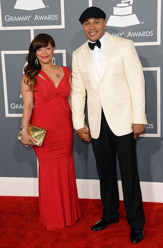 LL Cool J and wife Simone Johnson arrive at the 55th Annual Grammy Awards at the Staples Center in Los Angeles, CA on February 10, 2013.