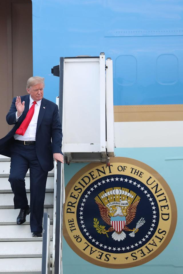 President Trump is reportedly not a fan of the Air Force One design. (Photo:Benoit Doppagne/AFP/Getty Images)