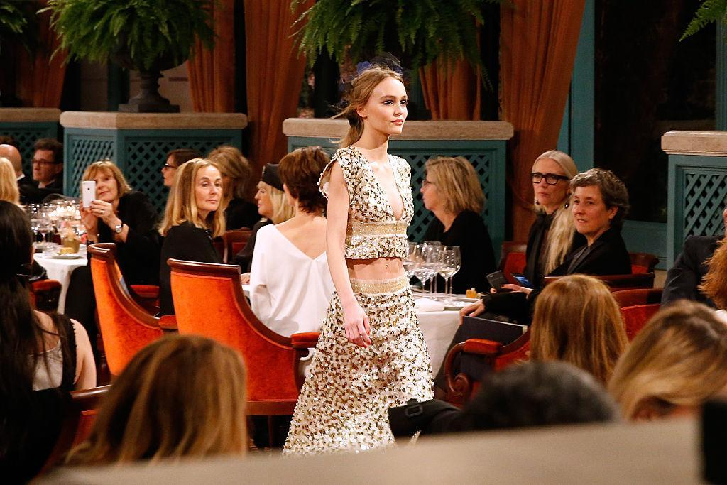 Lily Rose Depp made her runway debut at the Chanel Collection des Metiers d'Art in 2016. (Getty Images)