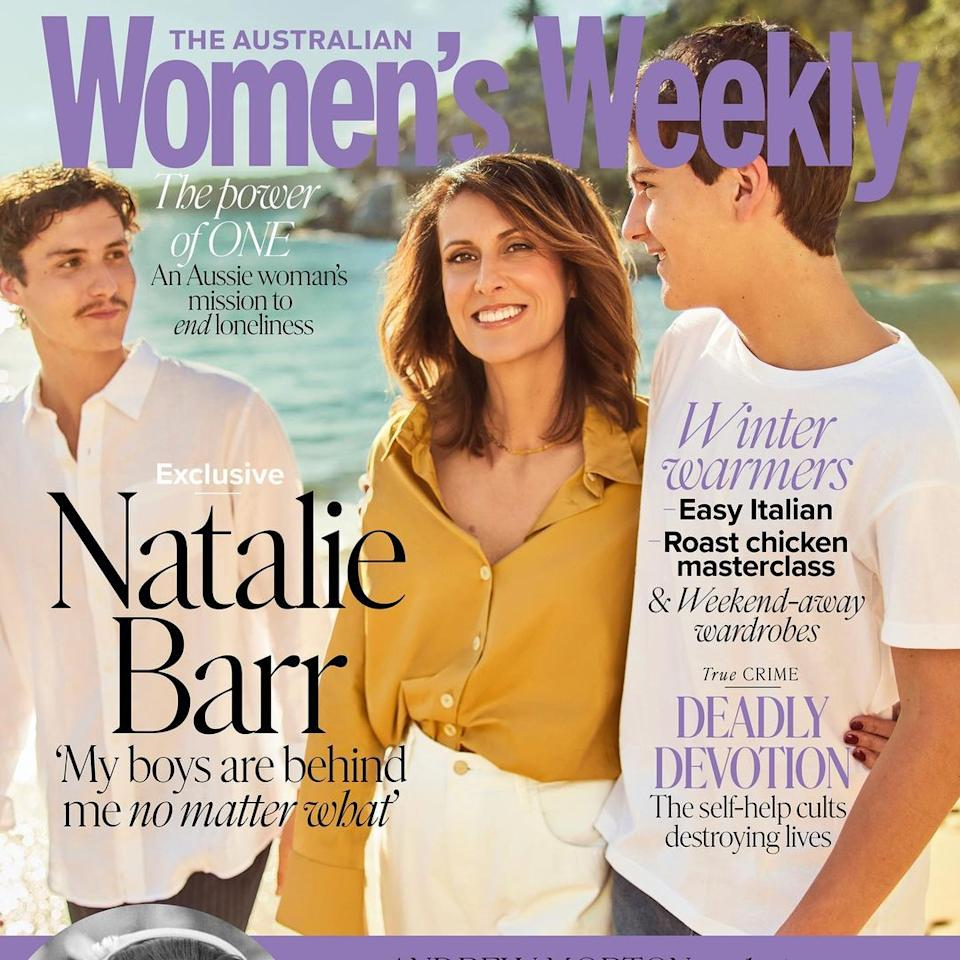 Nat Barr on the cover of Women's Weekly.