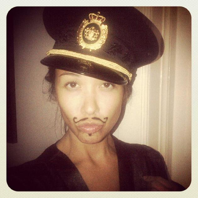Celebrity Twitpics: Myleene Klass looked to be joining in Movember this week with this Twitpic of herself with a drawn-on moustache. Only the Klass could pull this look off. Copyright [Myleene Klass]