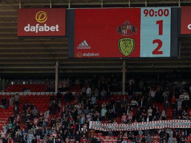 Sunderland relegated to England's third tier for first time in 30 years after defeat against Burton