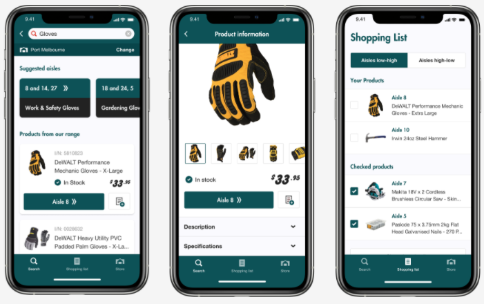 Bunnings product finder app
